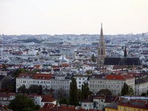 Skyline of Vienna from the Riesenrad Giant Wheel at Prater Amusment Park, Vienna, Austria by Levy Yadid