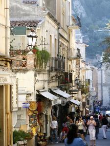 Street in Taormina, Sicily, Italy, Europe by Levy Yadid