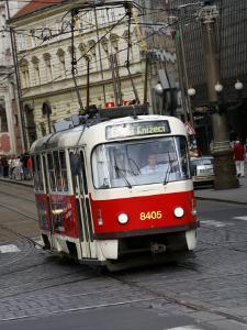 Tram, Prague, Czech Republic, Europe by Levy Yadid