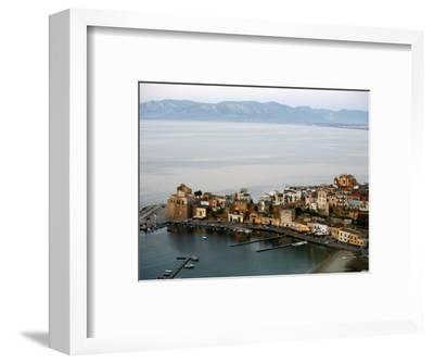 View over Castellammare Del Golfo, Sicily, Italy, Mediterranean, Europe