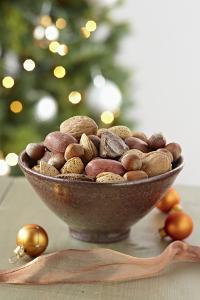 Bowl of Nuts by Holiday Decorations by Lew Robertson