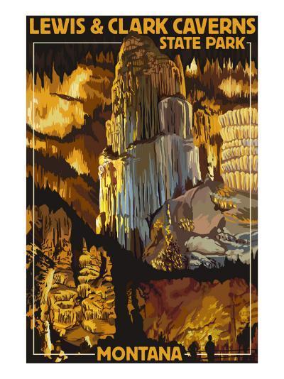 Lewis and Clark Caverns State Park, Montana-Lantern Press-Art Print