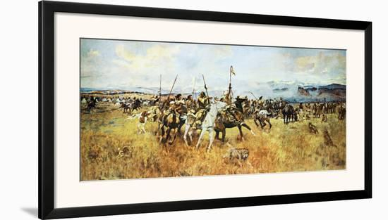 Lewis and Clark Meeting the Flatheads-Charles Marion Russell-Framed Art Print