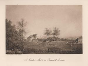 A Cricket Match on Bansted Downs, Surrey, 19th Century by Lewis Belanger