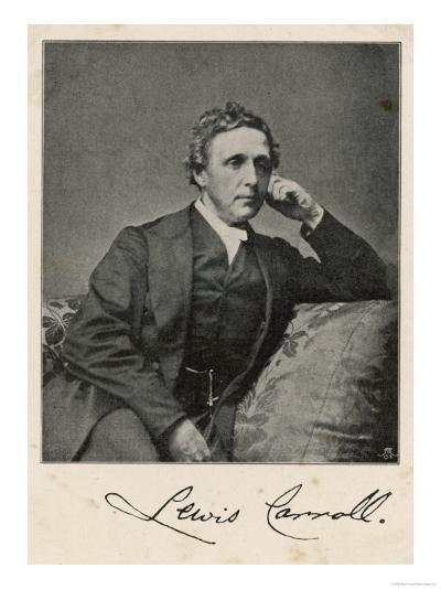 Lewis Carroll alias Charles Lutwidge Dodgson, English Mathematician, Clergyman and Writer--Giclee Print