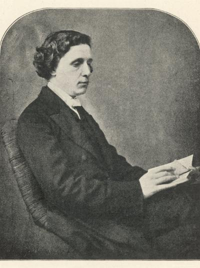 Lewis Carroll alias Charles Lutwidge Dodgson, English Mathematician, Clergyman and Writer--Photographic Print