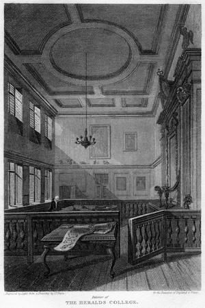 Interior of the Heralds' College, London, 1815