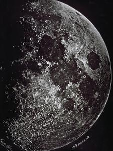 Photograph of the Moon in 1865 by Lewis M. Rutherford