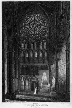 Poets' Corner, Westminster Abbey, London, 1815