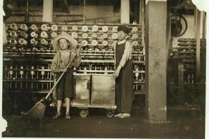 12 Year Old Doffer Ronald Webb and 7 Year Old Frank Robinson by Lewis Wickes Hine