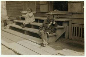 5 Year Old Olga Schubert Began Work About 5:00 A.M. Helping Her Mother in the Biloxi Canning Factor by Lewis Wickes Hine