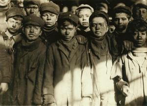Breaker Boys (Who Sort Coal by Hand) at Hughestown Borough Coal Co. Pittston, Pennsylvania, 1911 by Lewis Wickes Hine