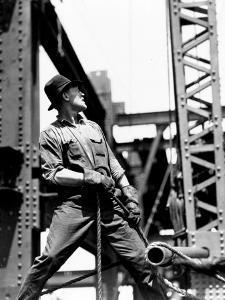 Derrick man, Empire State Building, 1930-31 (gelatin silver print) by Lewis Wickes Hine