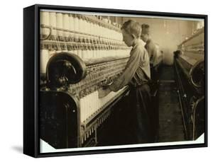Doffers Replacing Full Bobbins at Indian Orchard Cotton Mill, Massachusetts, 1916 by Lewis Wickes Hine