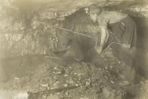 Drilling for a Shot: Old-Fashioned Way of Mining Coal, 1921 by Lewis Wickes Hine