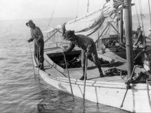 Fishing Oysters in Mobile Bay by Lewis Wickes Hine