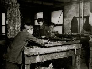 Linking Bed Springs by Lewis Wickes Hine