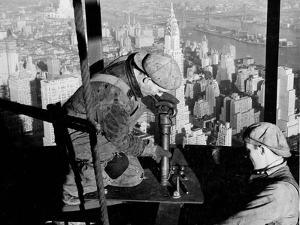 Riveters on the Empire State Building, 1930-31 (gelatin silver print) by Lewis Wickes Hine