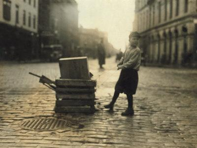 Scavenger Toting Wood, Fall River, Massachusetts, c.1916