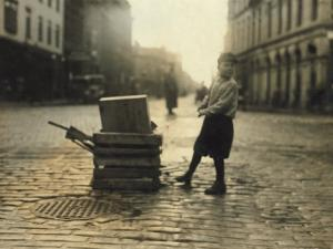 Scavenger Toting Wood, Fall River, Massachusetts, c.1916 by Lewis Wickes Hine