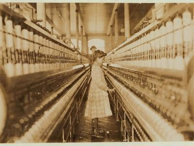 Spinner in Lancaster Cotton Mills, South Carolina, 1908
