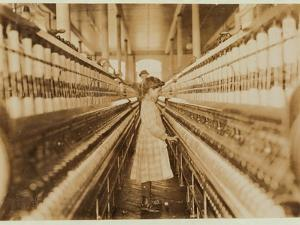 Spinner in Lancaster Cotton Mills, South Carolina, 1908 by Lewis Wickes Hine