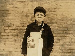 Tony Casale known as 'Bologna' Aged 11, Selling Papers for 4 Years, 1909 by Lewis Wickes Hine