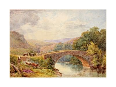 Lewisburn Bridge, North Tyne-Julia Swinburne-Giclee Print