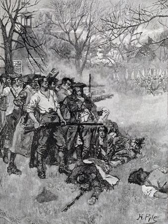 Lexington Green, Harper's Magazine, c.1883-Howard Pyle-Giclee Print
