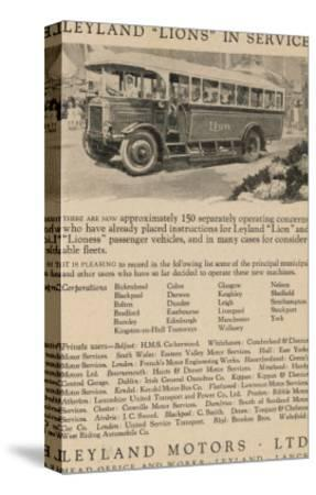 Leyland Lion Motor Bus