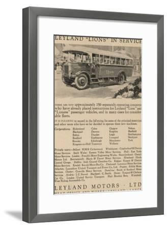 Leyland Lion Motor Bus