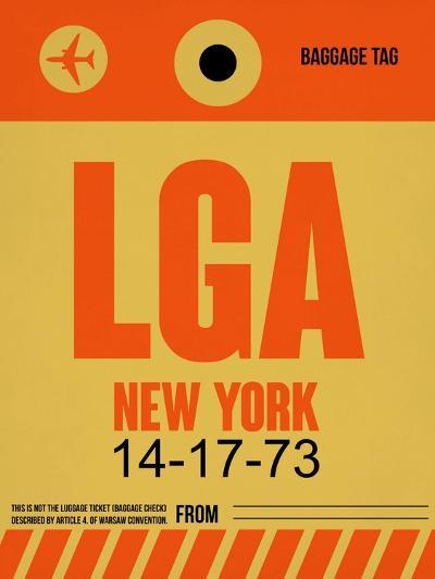 LGA New York Luggage Tag 1-NaxArt-Art Print