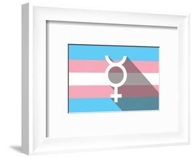 Lgbt Pride Flag Interfaithsign--Framed Art Print