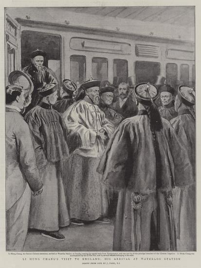 Li Hung Chang's Visit to England, His Arrival at Waterloo Station-Joseph Nash-Giclee Print