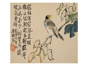 A Page (Bird) from Flowers and Bird, Vegetables and Fruit by Li Shan