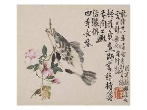 A Page (Fish) from Flowers and Bird, Vegetables and Fruits by Li Shan