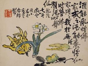 A Page (Flower) from Flowers and Bird, Vegetables and Fruit by Li Shan