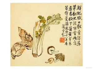 Flowers and Bird, Vegetables and Fruits by Li Shan