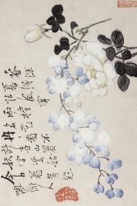 Roses and Wisteria by Li Shan