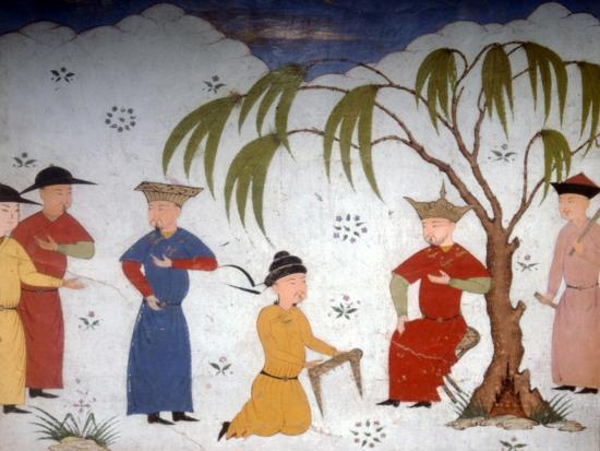 Li-ta-chih and Maksun, present history books to Uljaytu, c14th-15th century-Unknown-Giclee Print