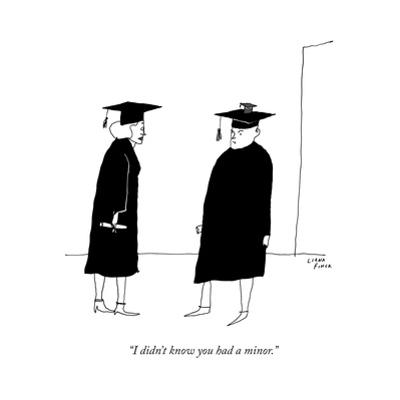 """""""I didn't know you had a minor."""" - New Yorker Cartoon by Liana Finck"""