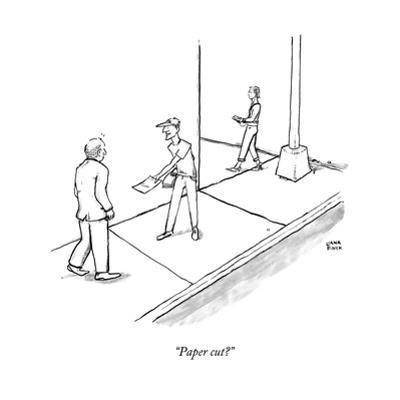 """""""Paper cut?"""" - New Yorker Cartoon by Liana Finck"""