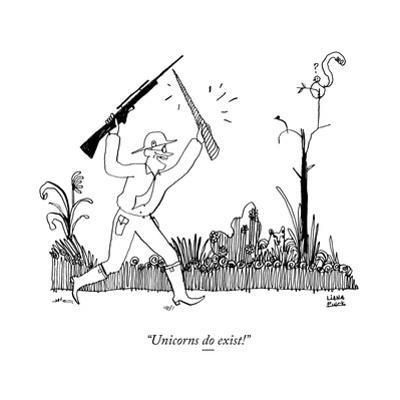 """Unicorns do exist!"" - New Yorker Cartoon by Liana Finck"