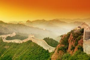 Great Wall of China at Sunrise. by Liang Zhang