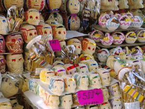 Sugar Skulls, Day of the Dead, Mexico, North America by Liba Taylor