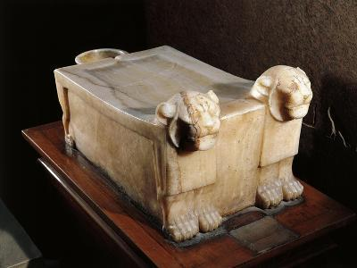 Libation Table or Alabaster Altar, with Lion Heads--Giclee Print