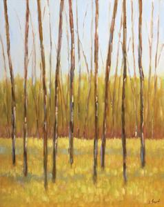 Tall Trees II (right) by Libby Smart