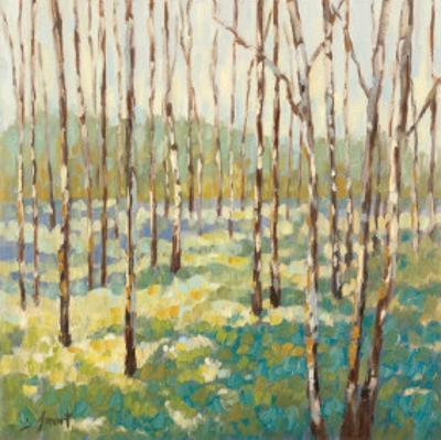Trees in Blue Green by Libby Smart