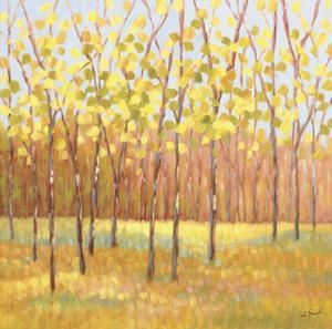 Yellow and Green Trees (center) by Libby Smart