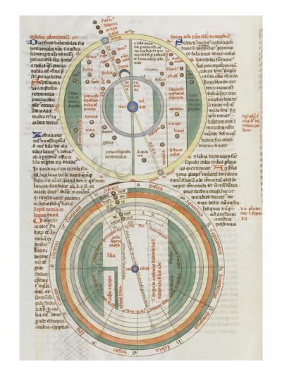 Liber Floridus par Lambert de Saint-Omer : Sphère du zodiaque--Giclee Print